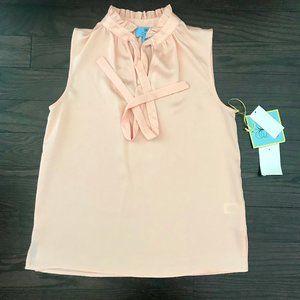 CeCe Peach Pink Sleeveless Blouse